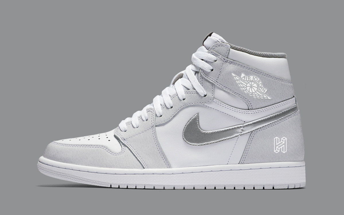 Air Jordan 1 High Neutral Grey Metallic Silver On The Way For 2020