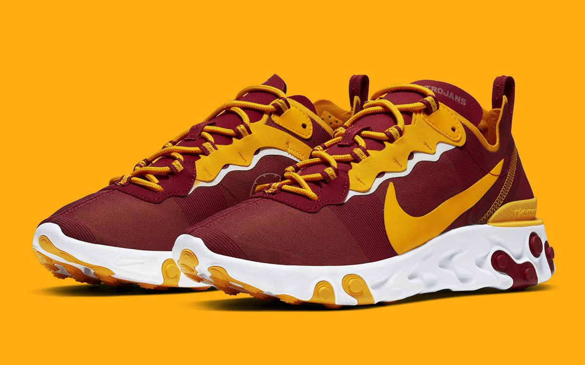 Geografía influenza A veces a veces  USC Trojans are Next to Join Nike's Huge NCAA React Element 55 Roster -  HOUSE OF HEAT | Sneaker News, Release Dates and Features