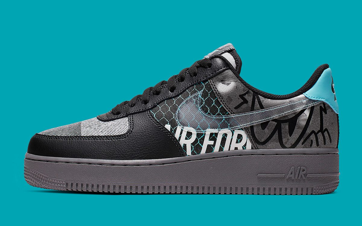 nike air force 1 low noir et blanc