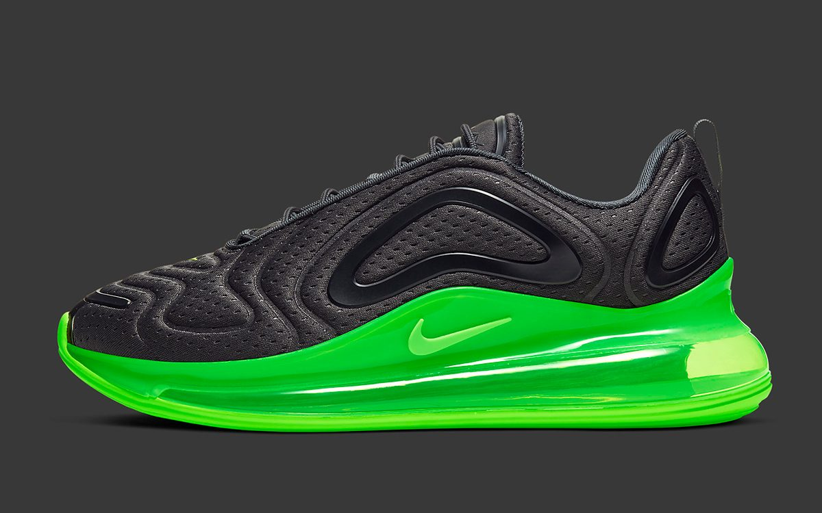 hot sale online fef94 2b369 Available Now // The Nike Air Max 720 Tacks on Vibrant Volt ...