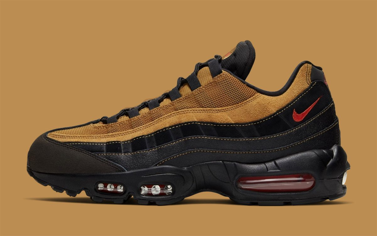 Línea de metal capacidad católico  Available Now // Nike Air Max 95 in Wheat and Black - HOUSE OF HEAT |  Sneaker News, Release Dates and Features