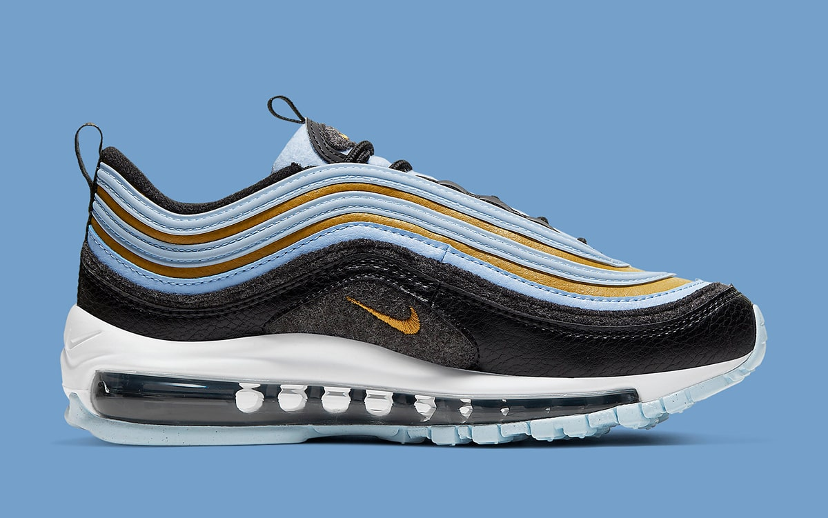 Another Fleece And Wool Air Max 97 Surfaces In Black Blue And