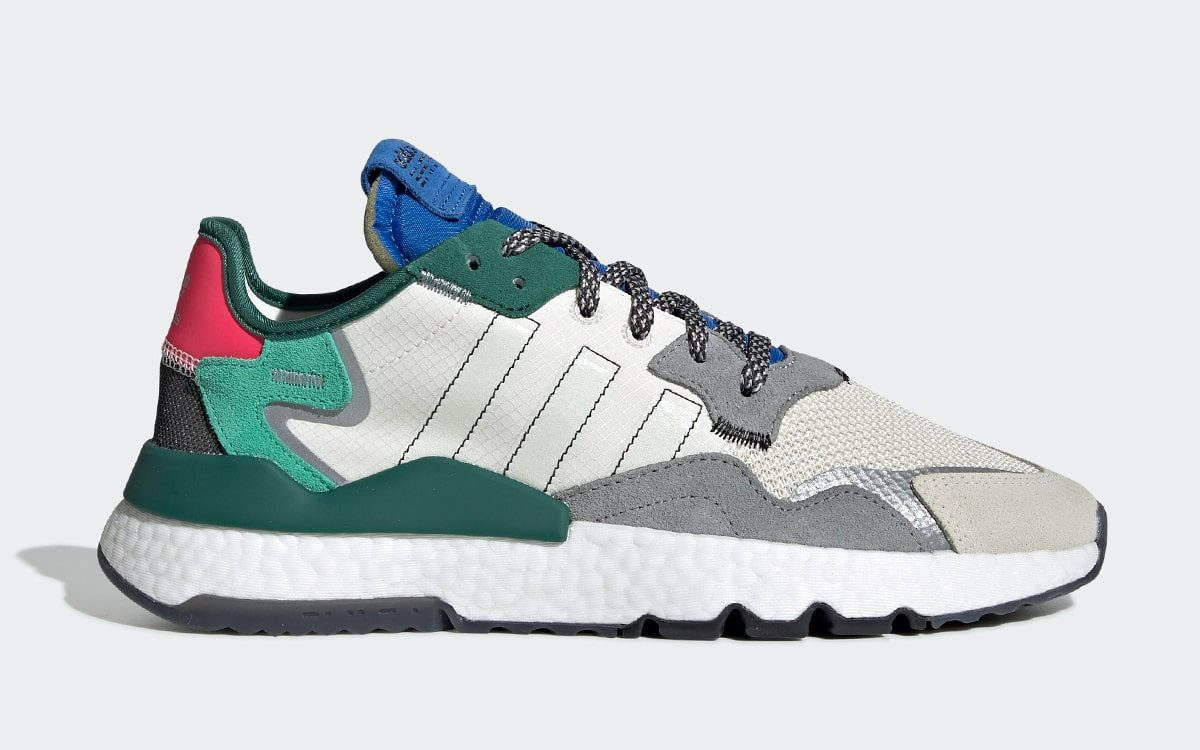 "adidas Cultivate a Colorful-Yet-Chilled ""Collegiate Green"" Nite Jogger"
