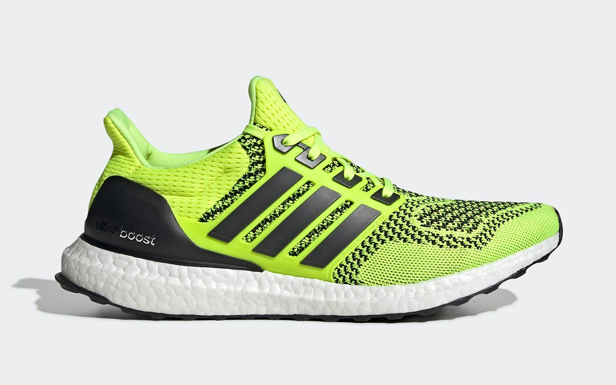 "Official Looks at Next Month's adidas Ultra BOOST 1.0 OG ""Solar Yellow"" Retro"