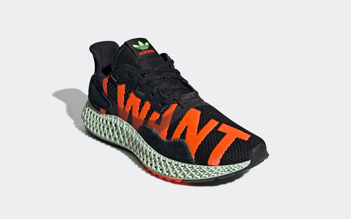 "The adidas ZX 4000 4D ""I Want, I Can"" Backs Up in Black"