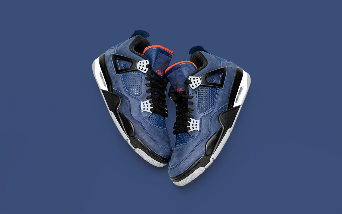 "Detailed Looks at the Winterized Air Jordan 4 ""Loyal Blue"""