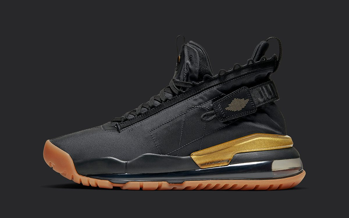 Available Now // The Jordan Protro Max 720 Gears up in Black, Gum and Gold