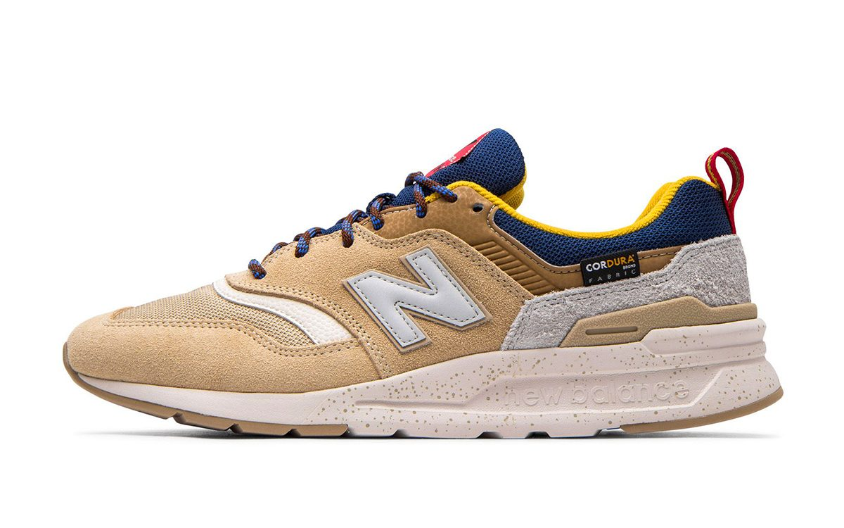Available Now // CORDURA New Balance 997H in Beige, Blue and Gold