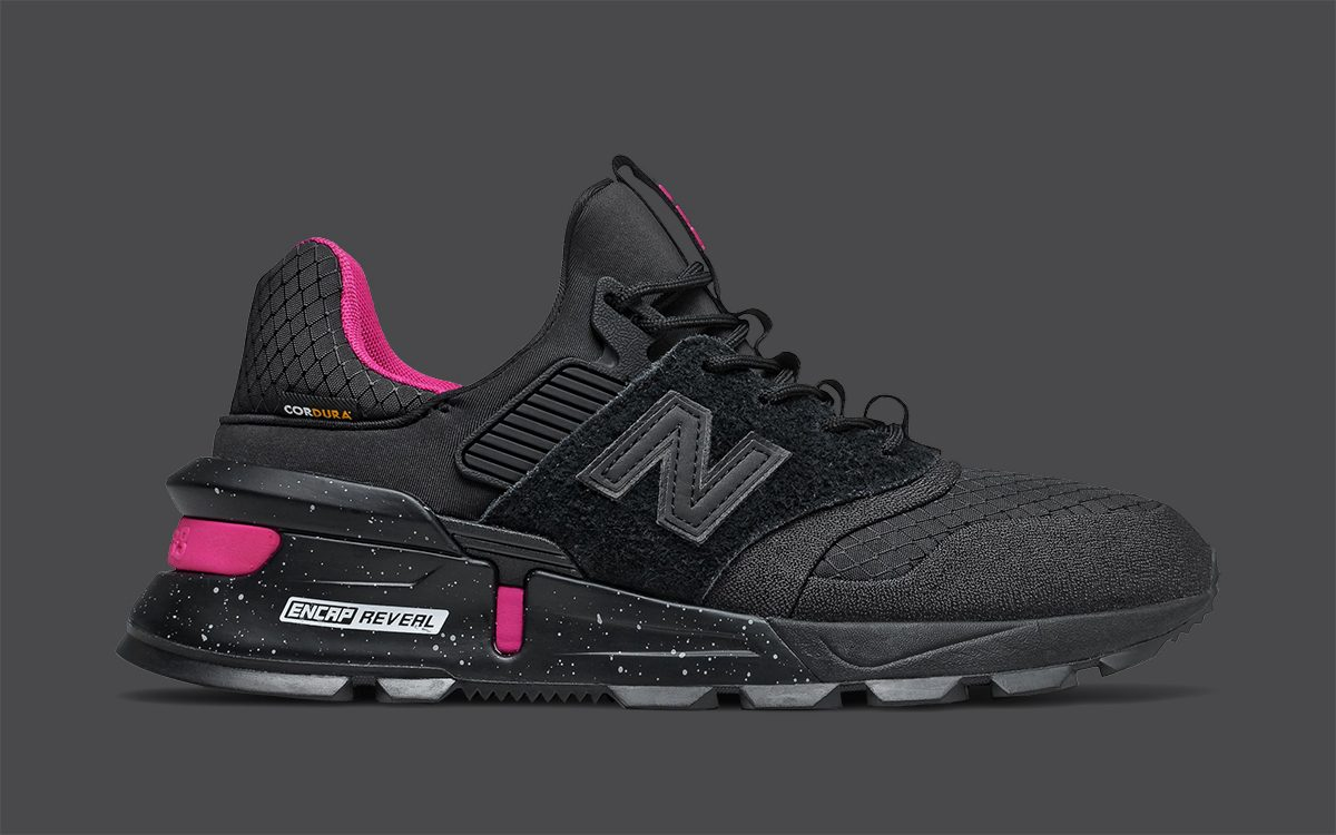 Available Now // CORDURA-Covered New Balance 997 Sport in Black/Pink