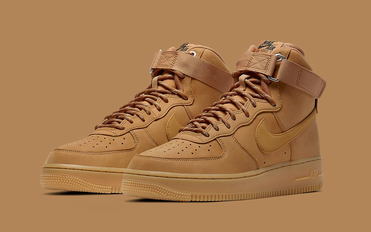 Nike Air Force 1 High Flax CJ9178 200 Release Info
