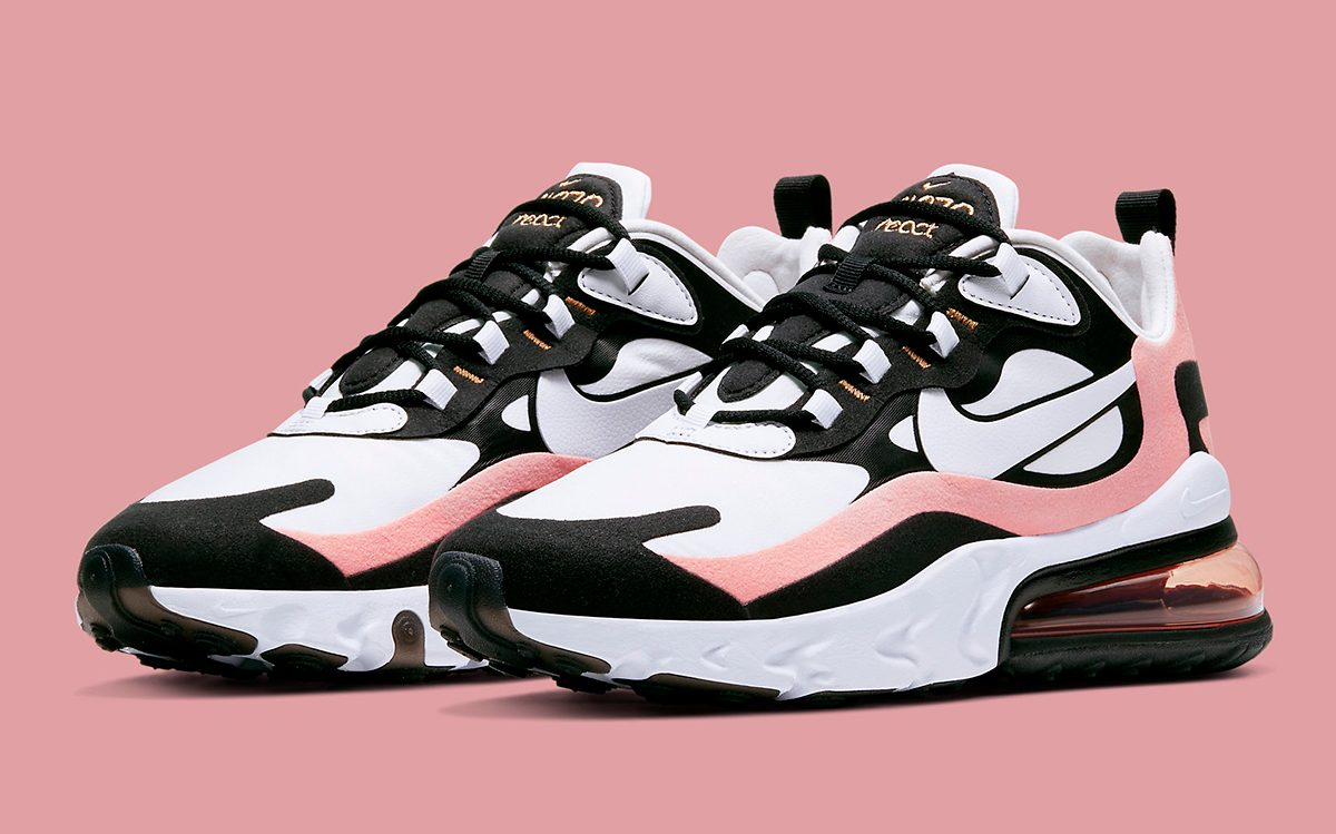 Available Now The Nike Air Max 270 React Pops In Pink And Black