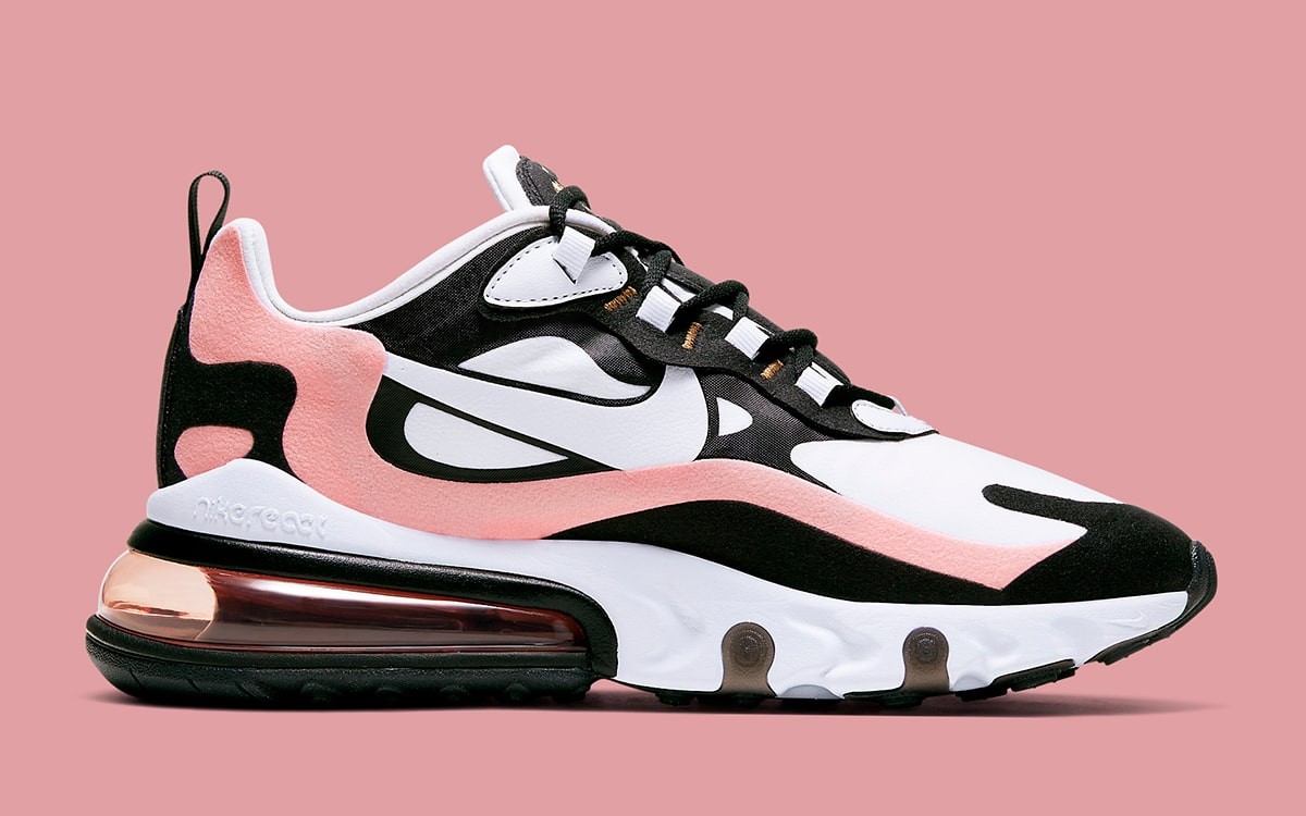 2019 Nike Air Max 270 React Black White Brown For Sale