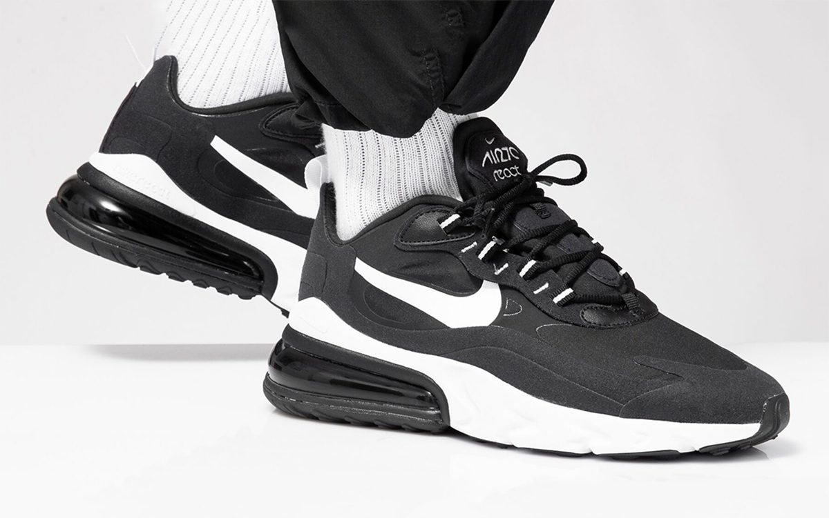 Nike's Air Max 270 React Arrives in Classic Black and White