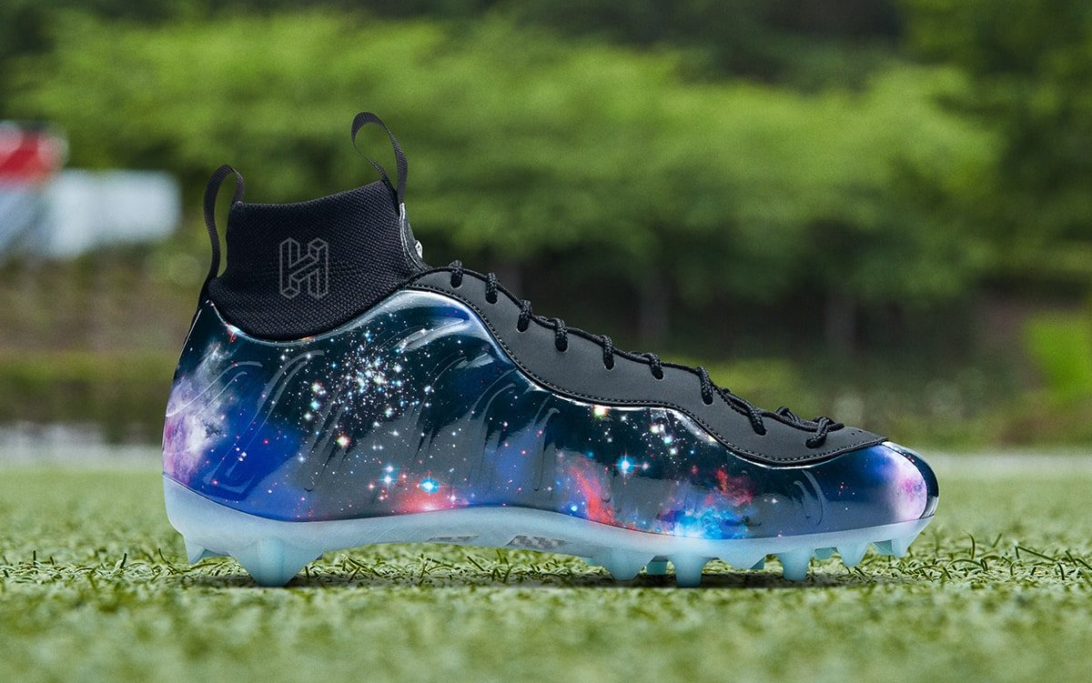 """Exclusive Look // OBJ's Next Nike Cleats Come Inspired by the """"Galaxy' Foamposite One"""