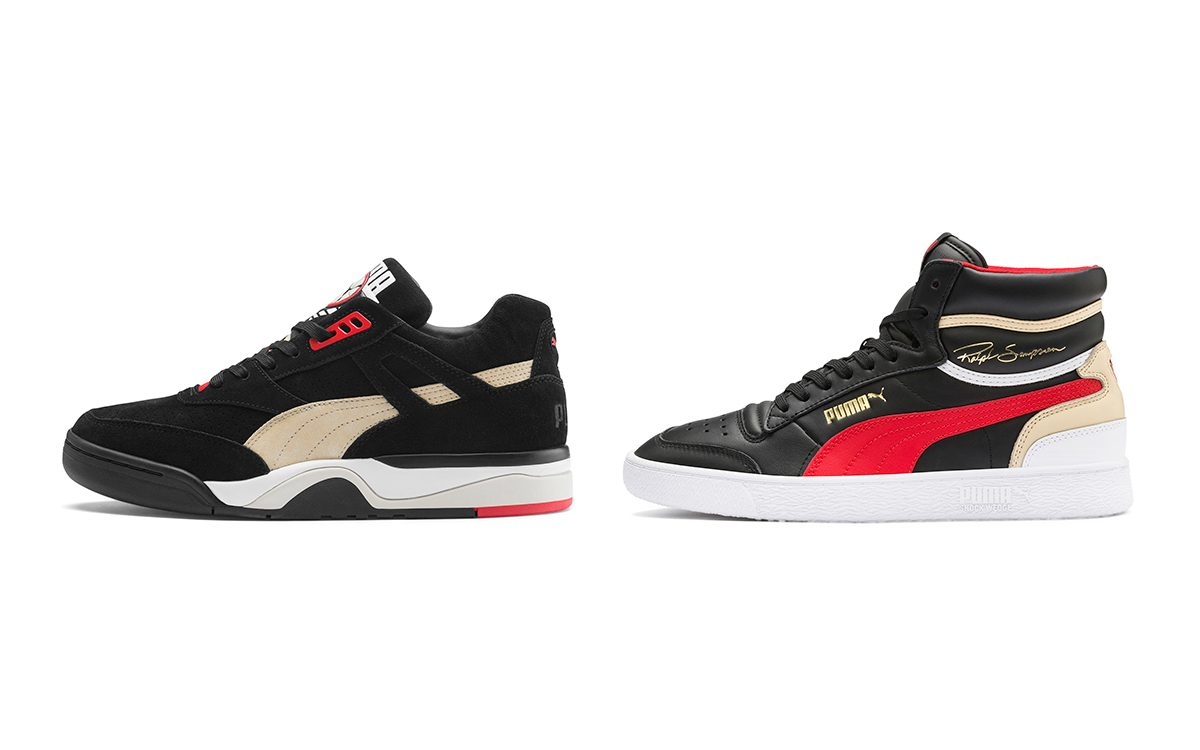 PUMA Call Up the Ralph Sampson and Palace Guard For this Black/Red/Nude Two-Pack