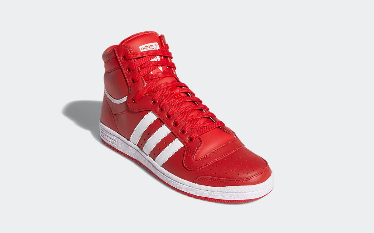 "Available Now // adidas Top Ten Hi ""Scarlett Red"""