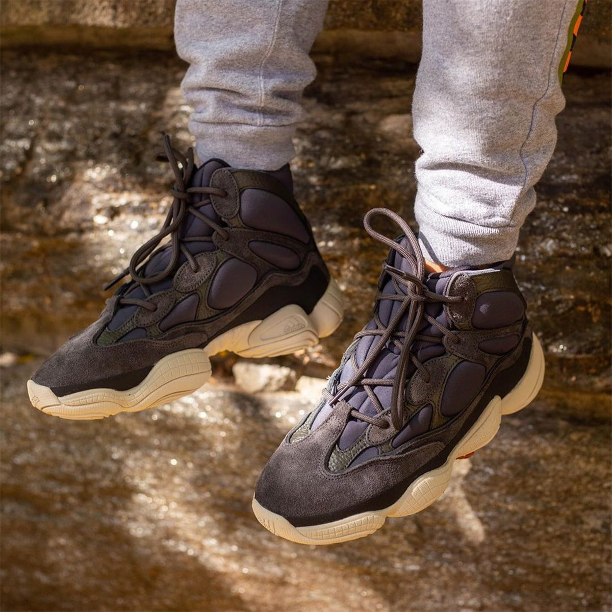 """On-Foot Looks at the adidas YEEZY 500 High """"Slate"""""""