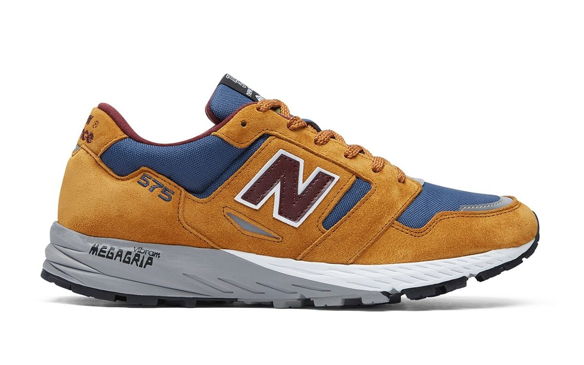 "Available Now // New Balance 575 Trail in ""Golden Blaze"" and ""Petrol"""