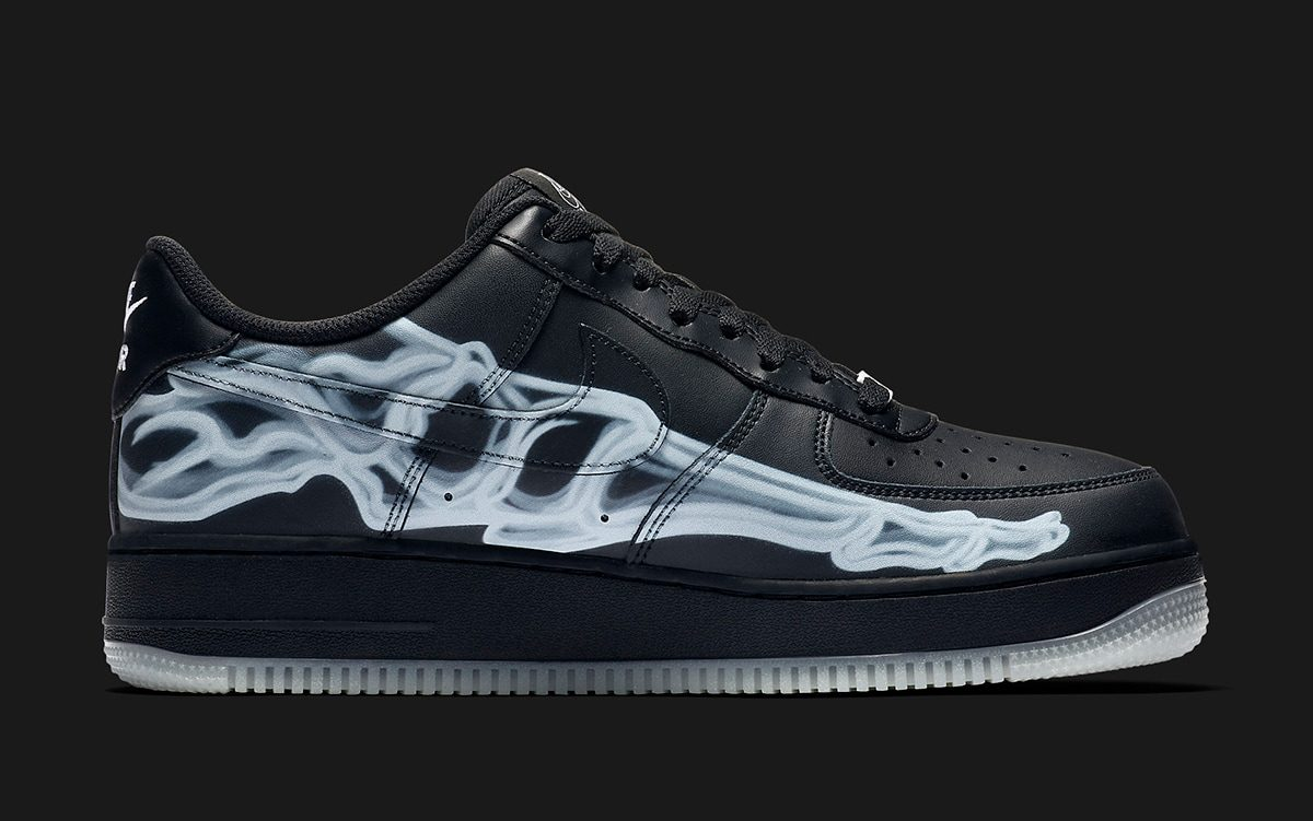 The Swoosh Gets Spooky with Another Skeleton Air Force 1 Low for Halloween