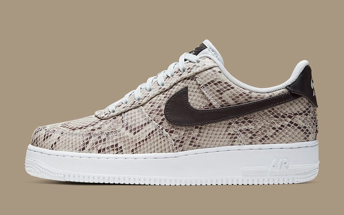 Nike Air Force 1 Low Snakeskin BQ4424 100 Release Date SBD