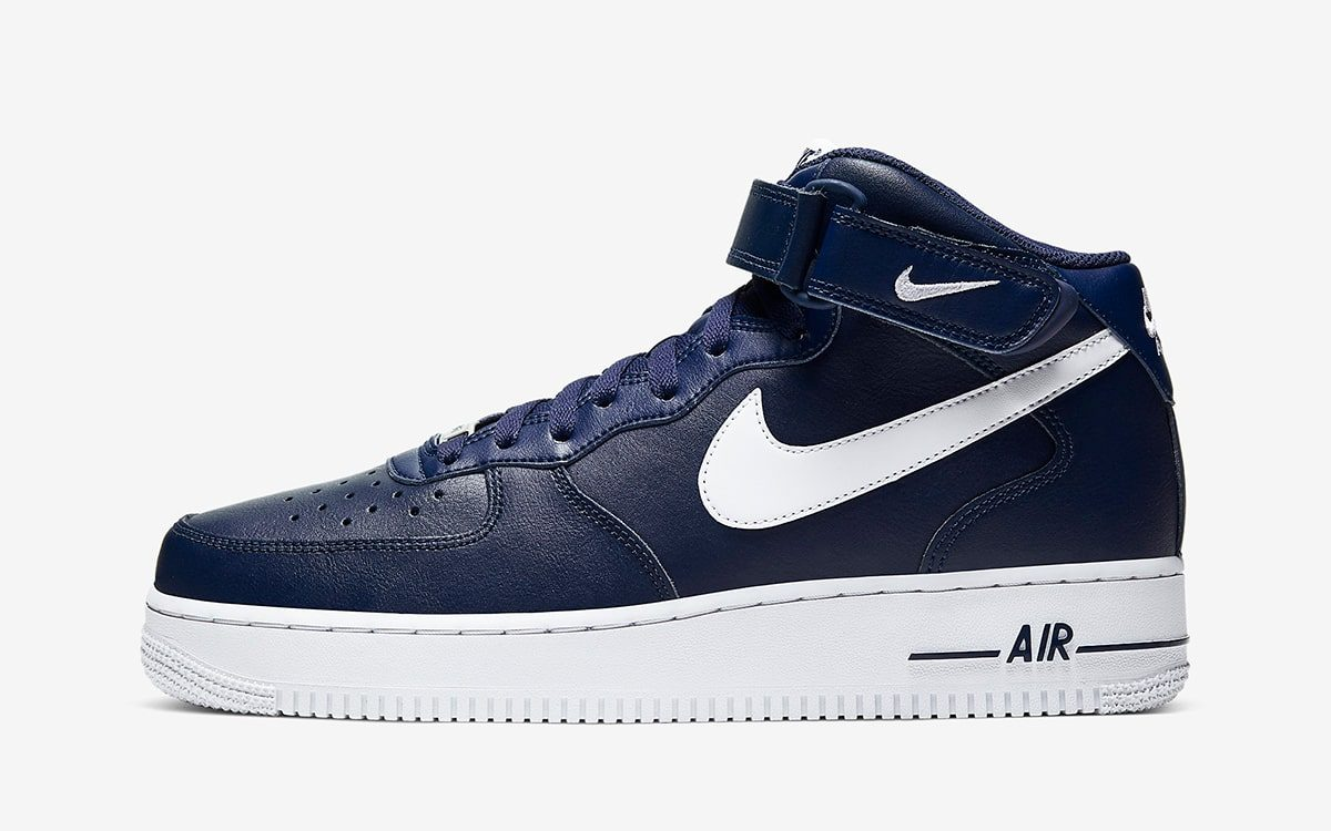 Nike Air Force 1 Mid Midnight NavyWhite 2019 Release