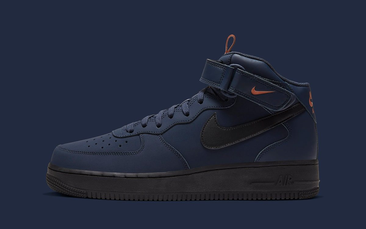 Available Now Matte Finish Nike Air Force 1 Mid Obsidian