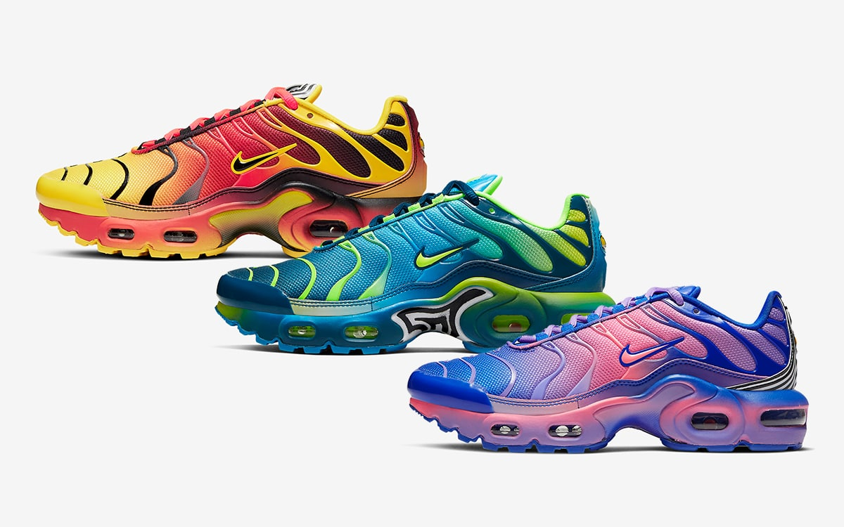 The Air Max Plus Adds Audacious Dazzle Camo and All-Over Gradients ...