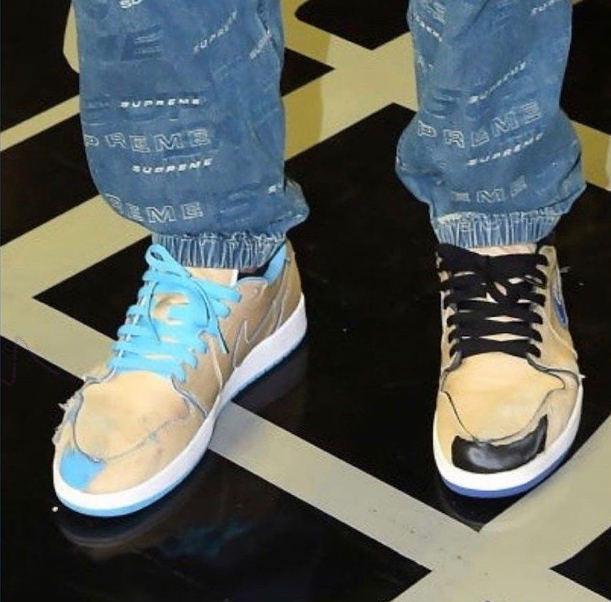 """First Looks at the Nike SB x Air Jordan 1 Low """"Desert Ore"""" Show Wear Away Uppers"""