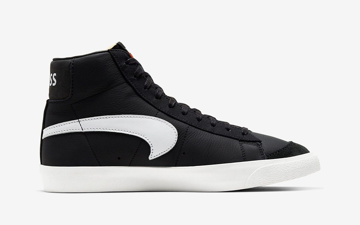 Slam Jam Serve Up Another Flipped-Swoosh Nike Blazer Mid in Black