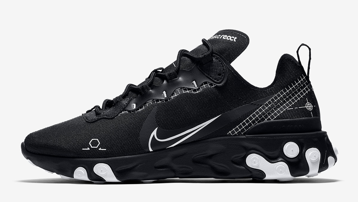 Black and White Nike React Element 55 Schematics Available Now ...