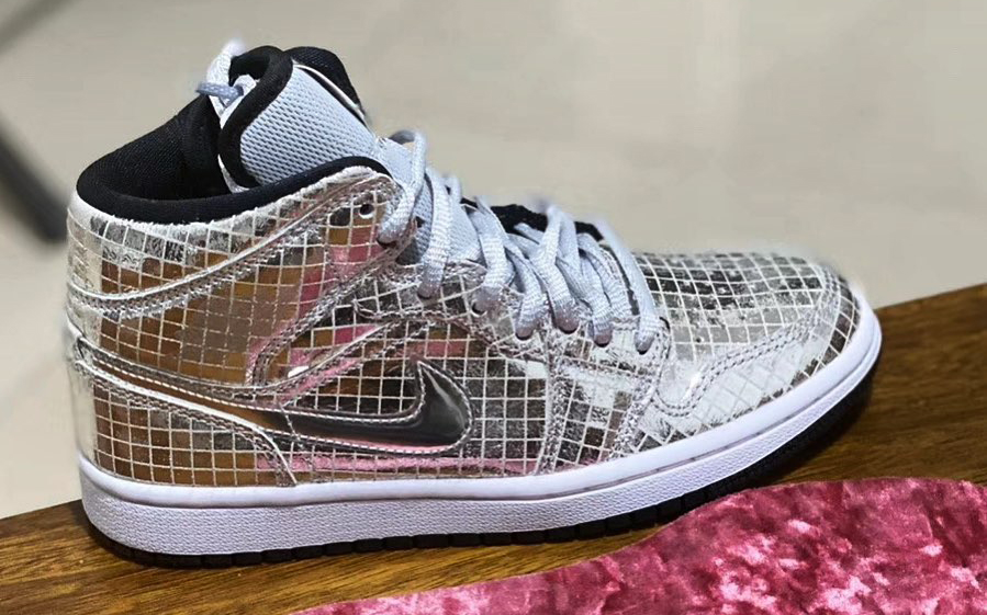 "Air Jordan 1 Mid ""Disco Ball"" Dons Mirrored Uppers"