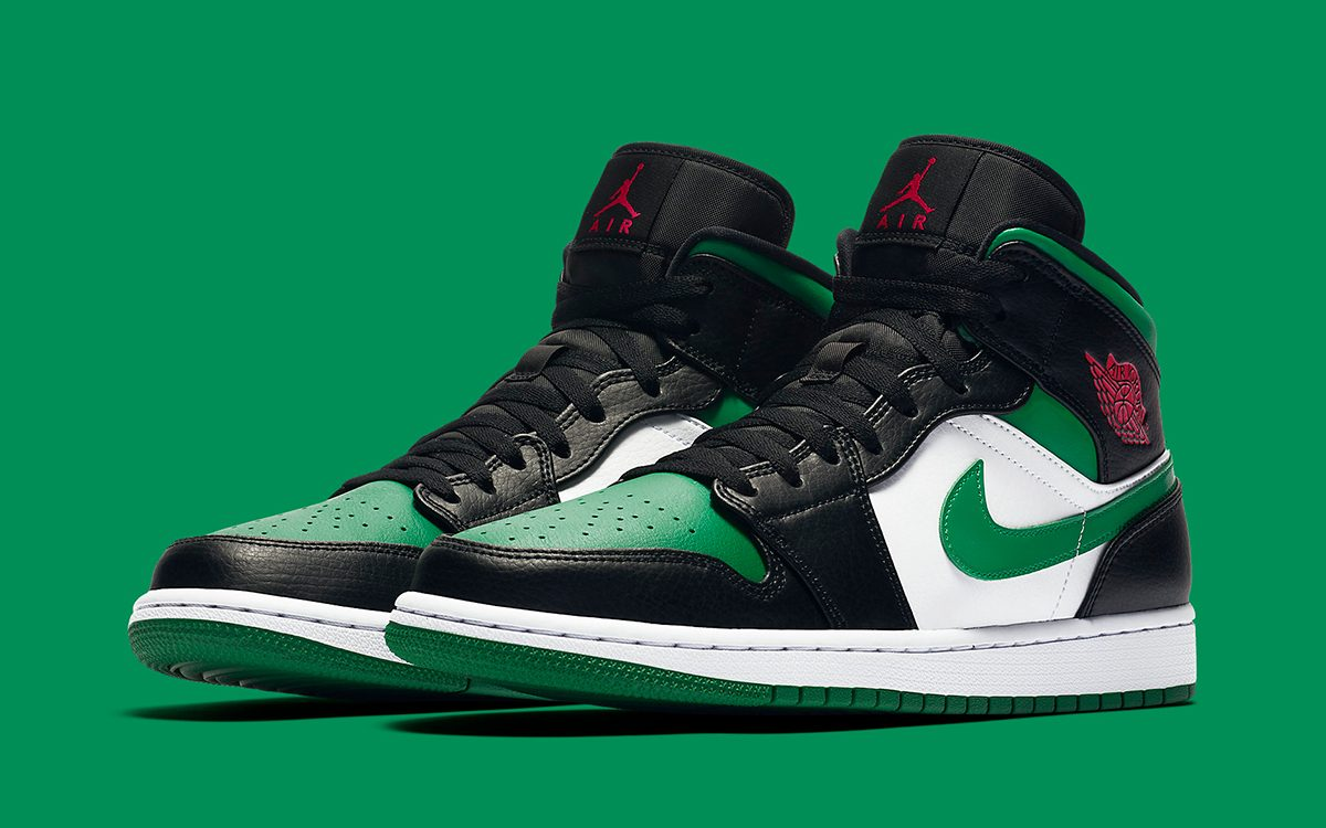 """Available Now // Air Jordan 1 Mid """"Pine Green"""""""