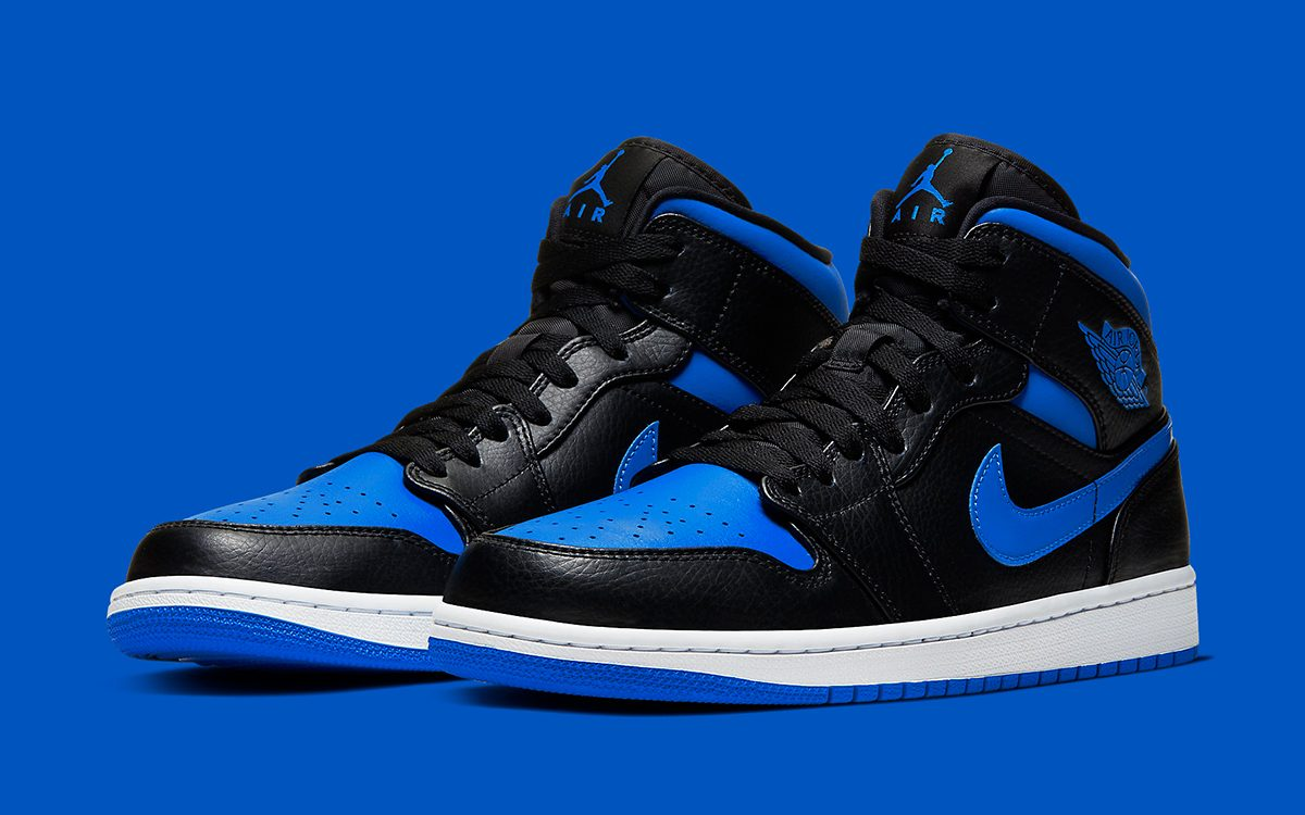 "Available Now // Air Jordan 1 Mid ""Royal"" Flips the OG Colorway in the Rear"