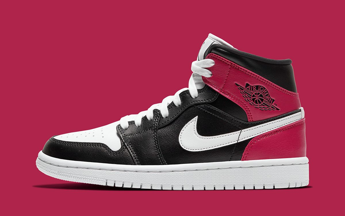 "Air Jordan 1 Mid Notches-Up a ""Noble Red"" Colorway for the Ladies"