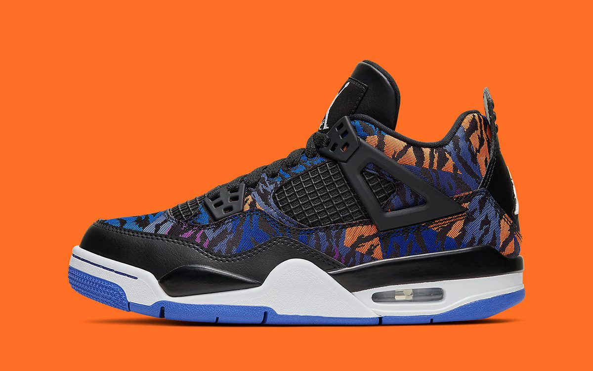"Official Looks at the Air Jordan 4 GS ""Rush Violet"""
