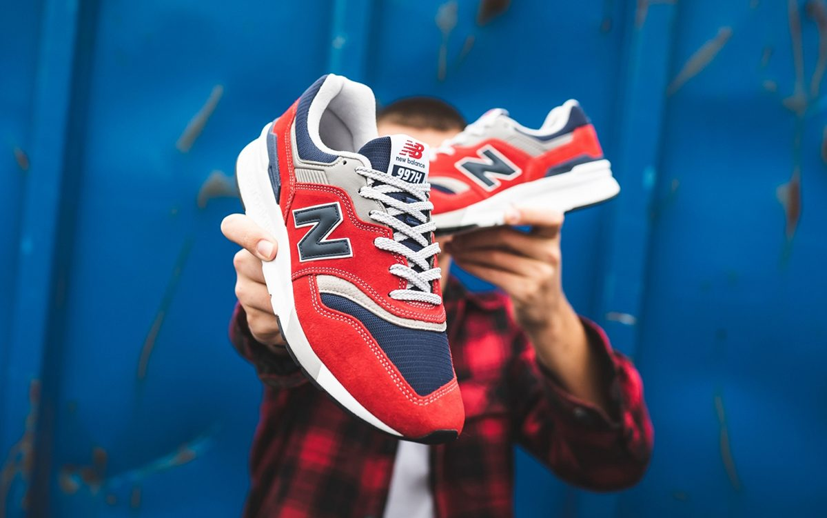 Available Now // New Balance 997H in Red, Navy and Grey