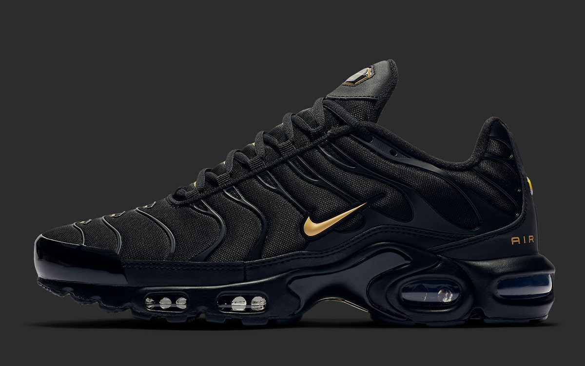 Nike Air Max Plus Black Gold Reflective Arriving Soon House Of