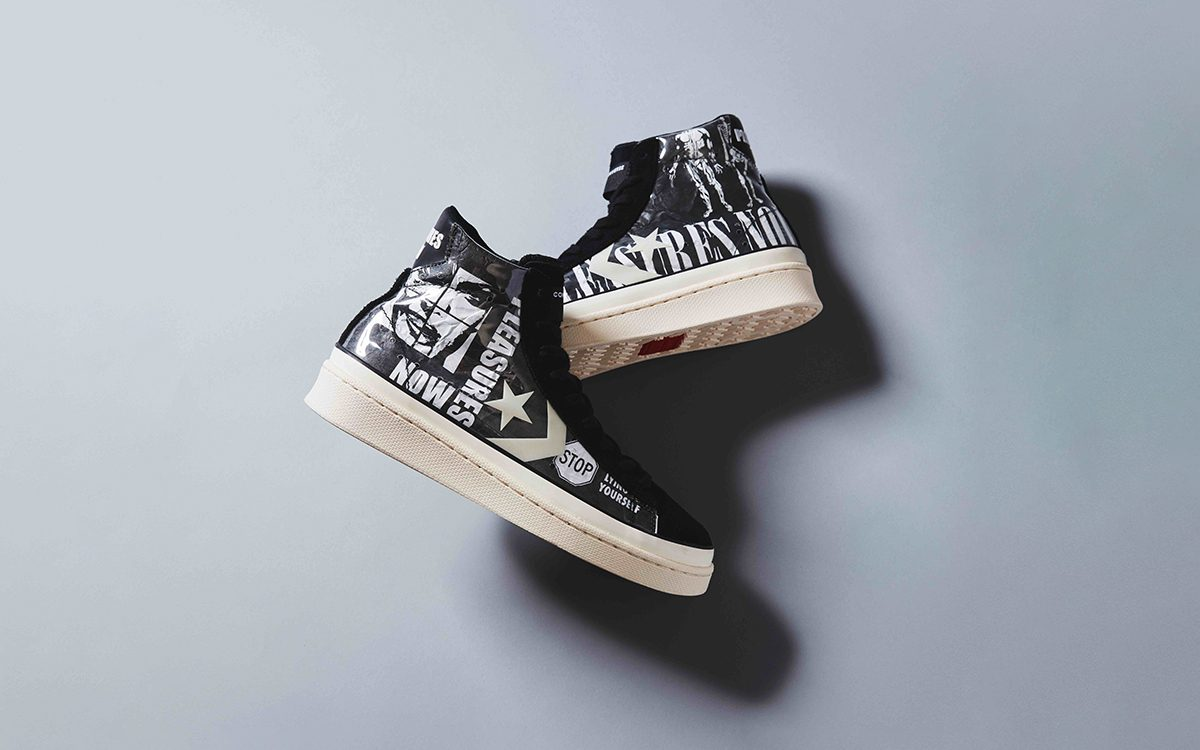 PLEASURES Pair Punk-Inspired Prints and the Pro Leather on this Converse Collab