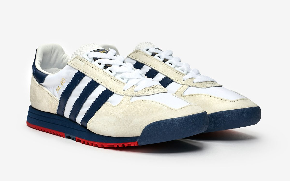 Available Now // adidas SL 80 in White/Navy/Red