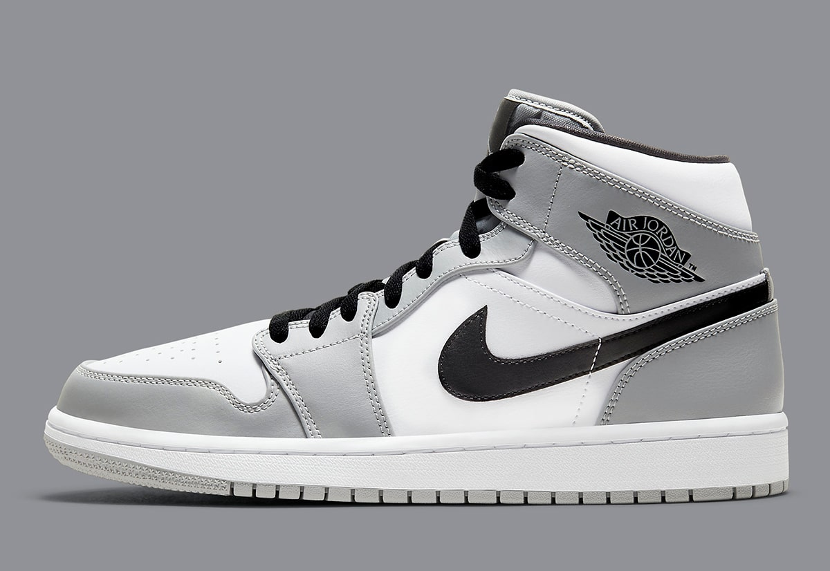 Available Now Light Smoke Grey Air Jordan 1 Mid House Of
