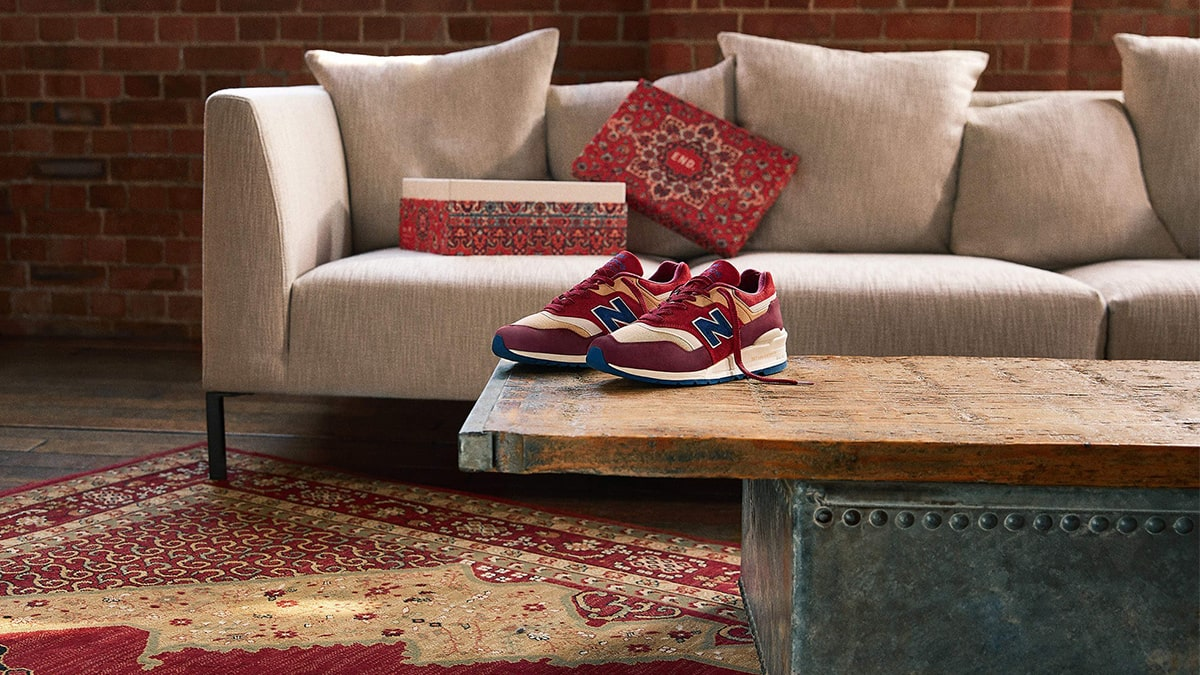 End And New Balance 997 Link Up To Lay Down A Persian Rug