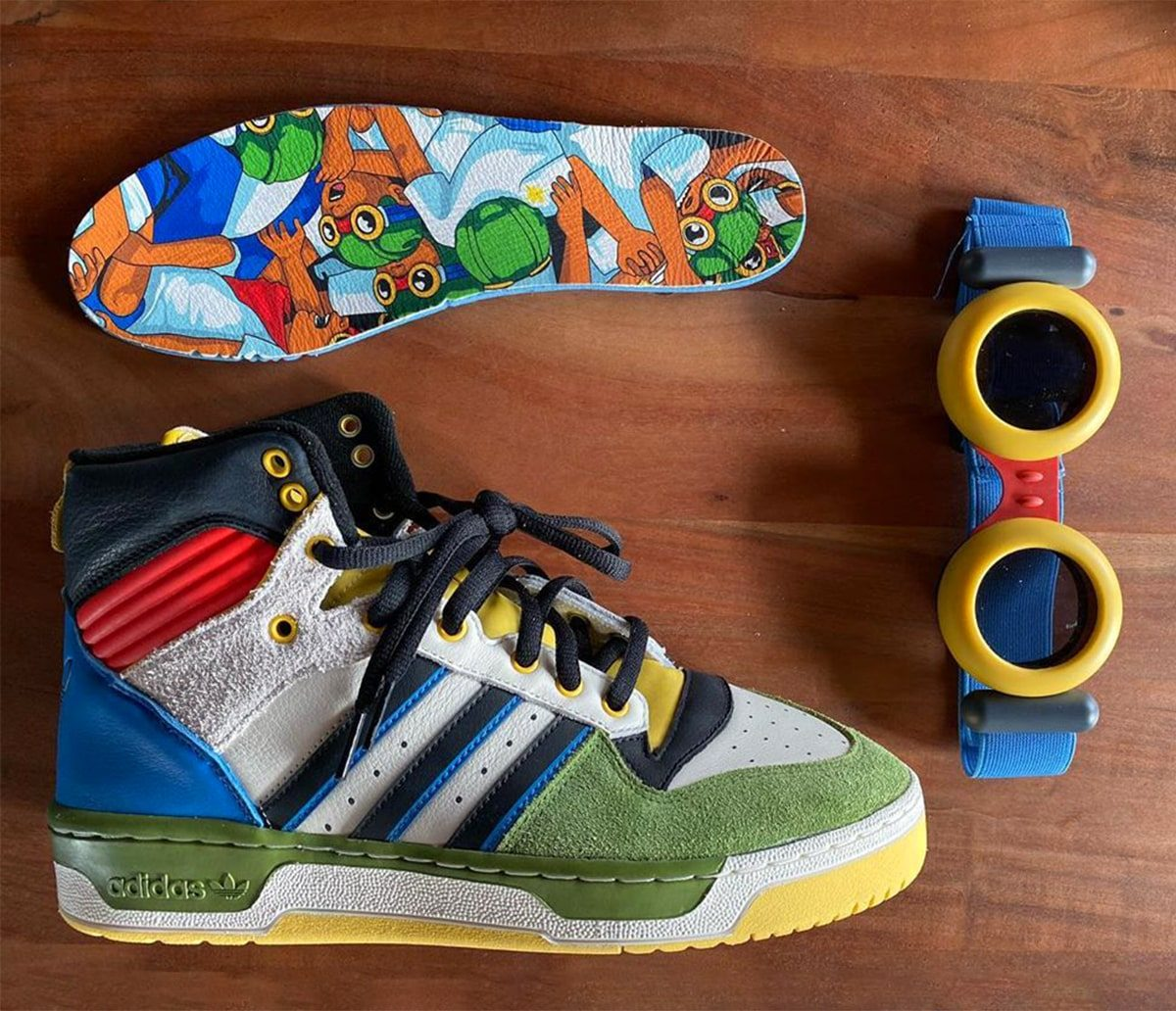 Hebru Brantley Buddies-Up with BBC on the adidas Rivalry Hi for Art Basel