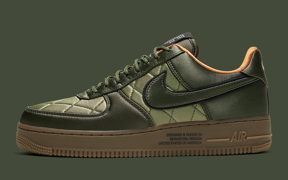 Nike Air Force 1 Low Quilted Olive Flight Jacket CU6724 333