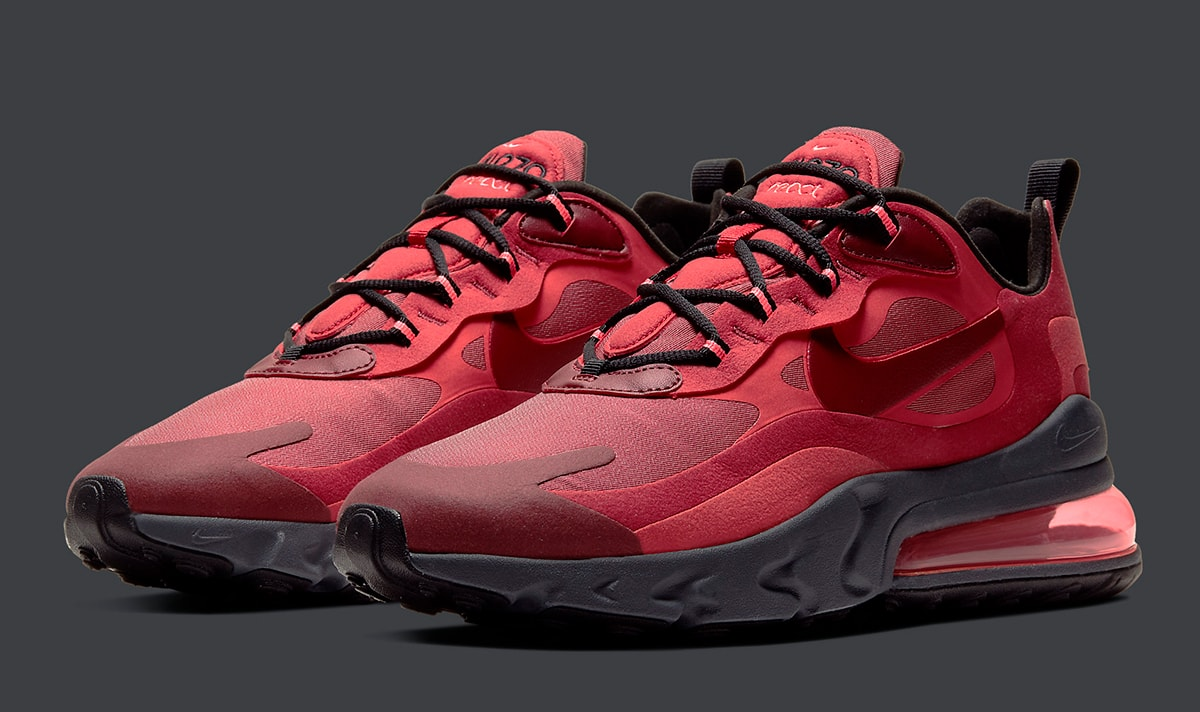 Available Now New Nike Air Max 270 React Rocks Red N Grey House Of Heat Sneaker News Release Dates And Features