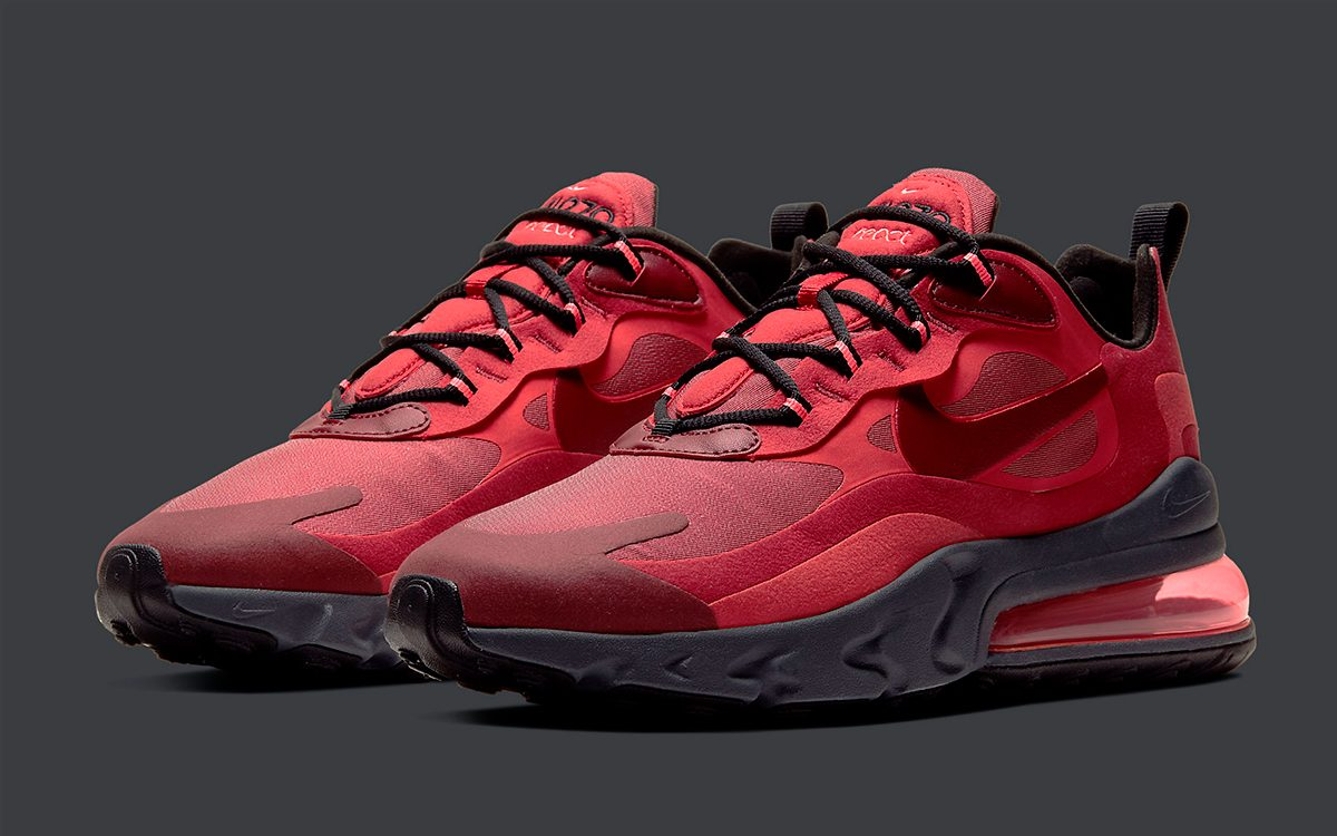 Available Now // New Nike Air Max 270 React Rocks Red \u0027n