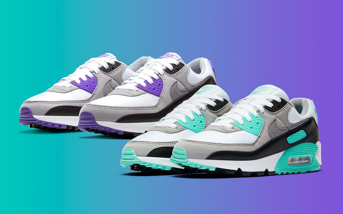nike air max purple and turquoise