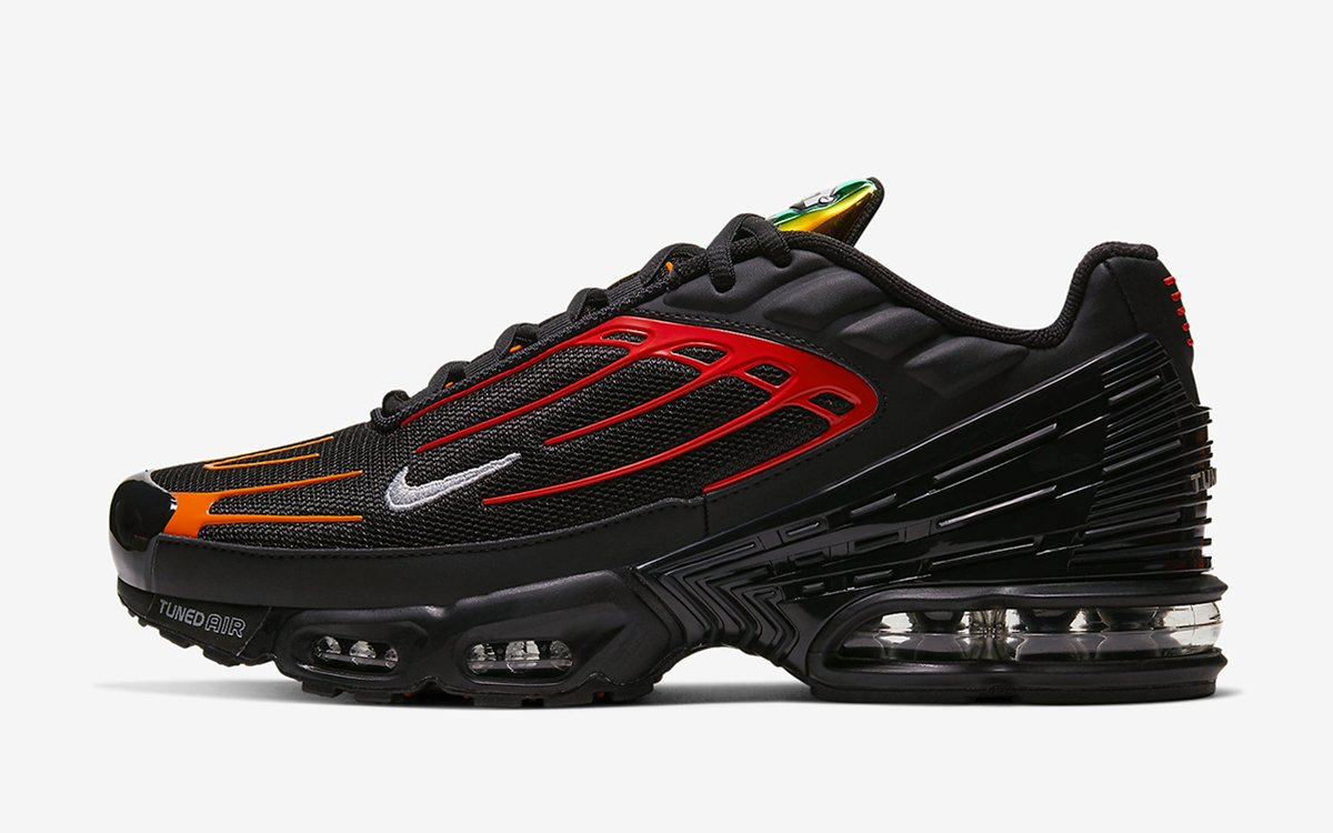 The Nike Air Max Plus 3 Appears in Black, Orange and ...