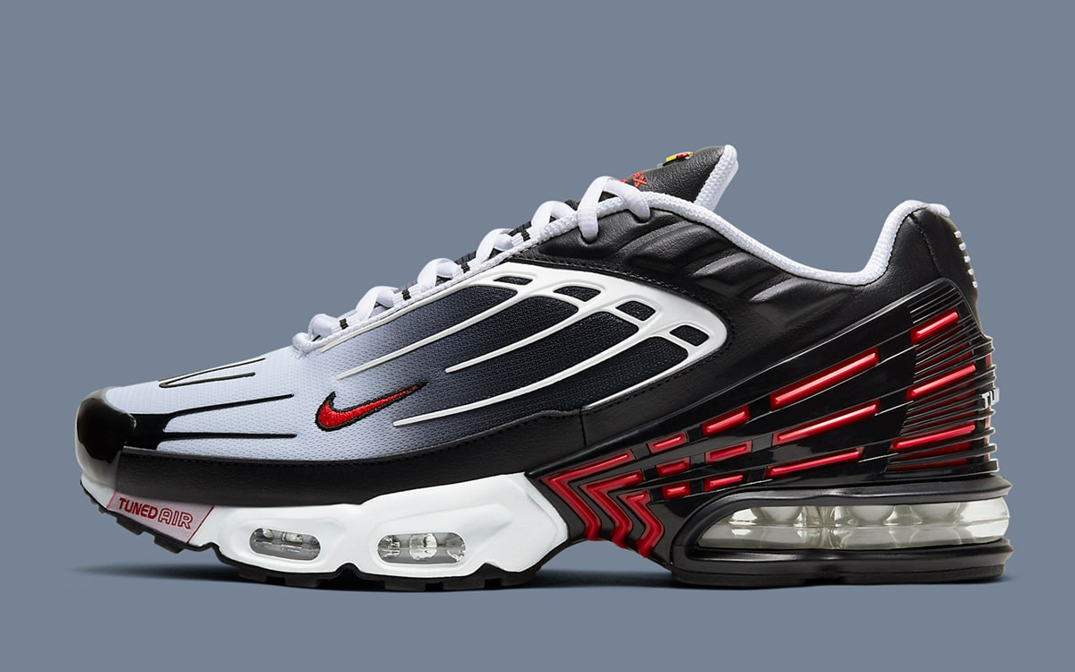 Available Now Nike Air Max Plus 3 Black White Red House Of