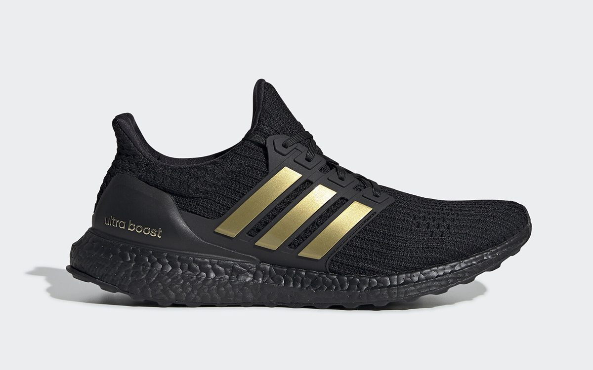 Available Now// adidas Ultra BOOST DNA in Black/Gold Metallic
