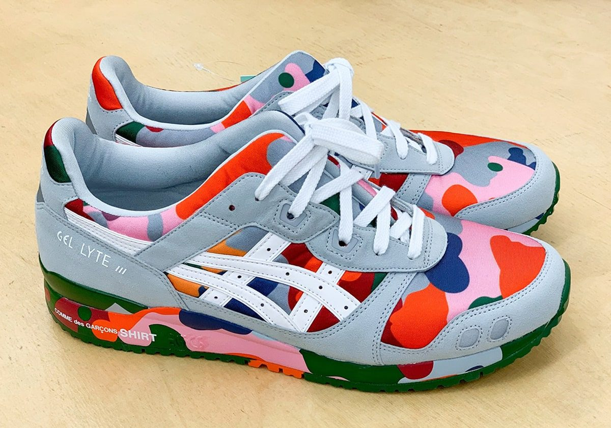 COMME des GARÇONS SHIRT Collaborate on Colorful Camo-Covered GEL-Lyte III